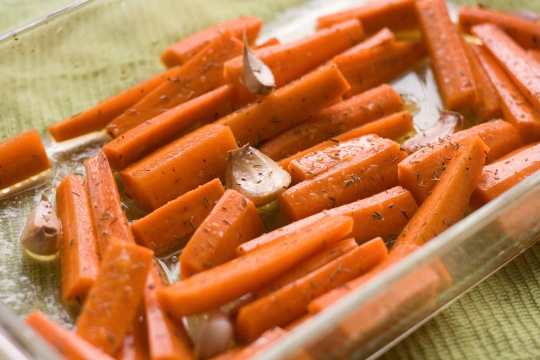 Orange Thyme Roasted Carrots