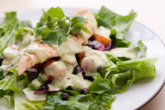 Salad Mexicana with Creamy Avocado Dressing