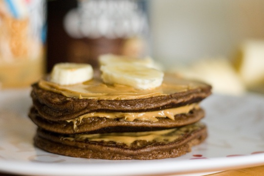 Chocolate Almond Flour Pancakes