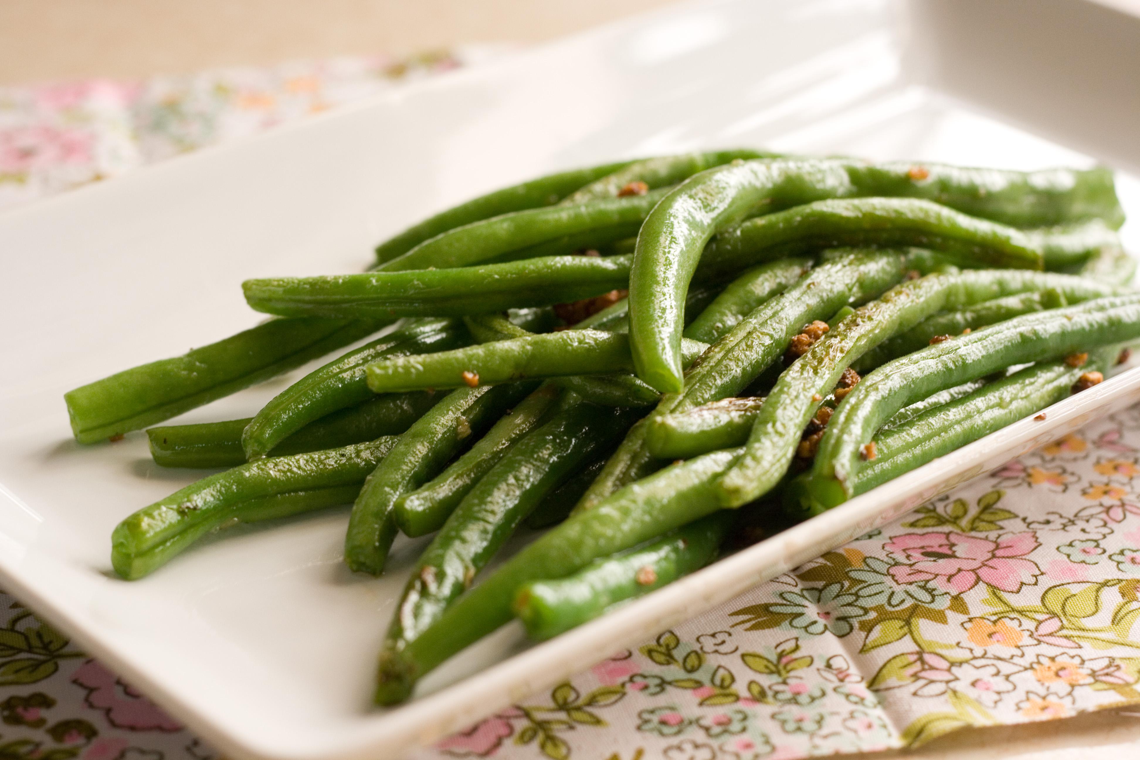 how to make frozen cut green beans taste good